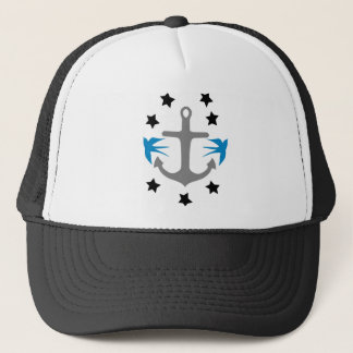 Anchor, Swallows and Stars Trucker Hat