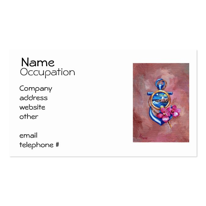 Anchor tattoo business card template for Tattoo business cards templates free