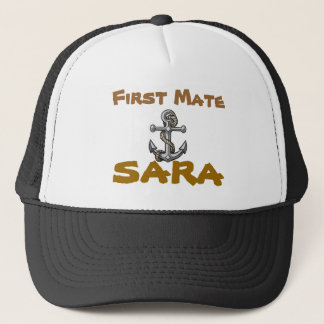 anchor-tattoo, First Mate, Sara Trucker Hat