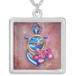Anchor Tattoo Personalised Necklace