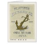Anchor Vintage Japanese Silk Label Greeting Card