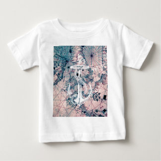 Anchor Vintage Nautical Map Sea Chart Baby T-Shirt