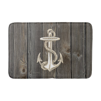 Anchor Vintage Wood Bath Rug