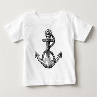 Anchor Vintage Woodcut Style Baby T-Shirt