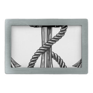 Anchor Vintage Woodcut Style Belt Buckles