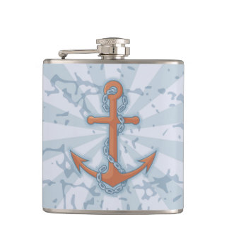 Anchor with Chain Flasks