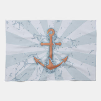 Anchor with Chain Hand Towel