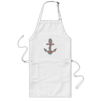 Anchor with Chain Long Apron