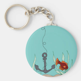 Anchor with fish key chain