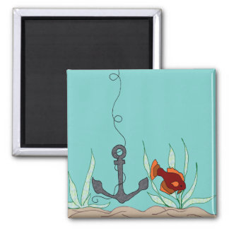 Anchor with fish magnet