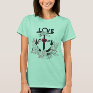 Anchor with flowers. Summer design T-Shirt