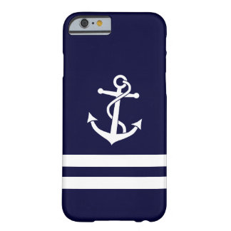 Anchor with Stripes Barely There iPhone 6 Case