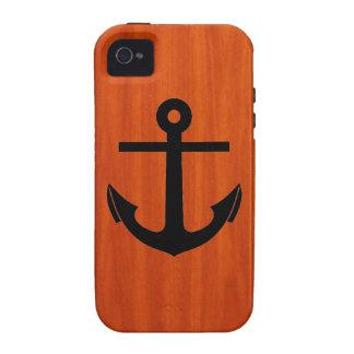 Anchor Wood Grain iPhone 4 Case