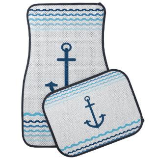 Anchor Yacht Boat Nautical Marine Sail  Car Mats Floor Mat