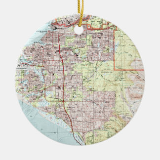Anchorage Alaska Map (1994) Christmas Ornament