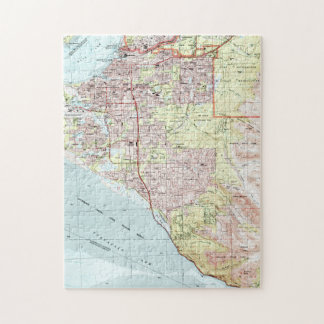 Anchorage Alaska Map (1994) Jigsaw Puzzle