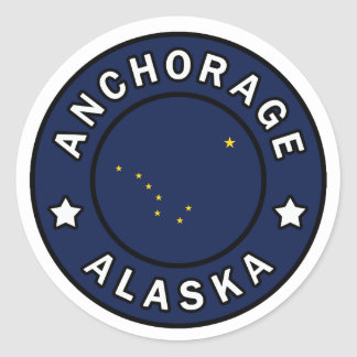 Anchorage Alaska Round Sticker