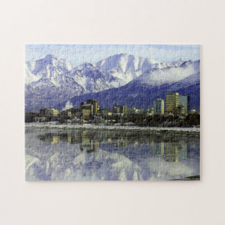 Anchorage Alaska Skyline Jigsaw Puzzle