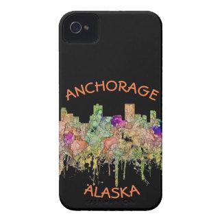 Anchorage Alaska Skyline SG-Faded Glory Case-Mate iPhone 4 Case