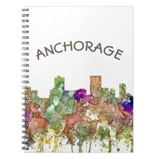 Anchorage Alaska Skyline SG-Faded Glory Notebooks