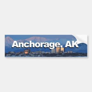 Anchorage Alaska with Anchorage in the Sky Bumper Sticker