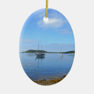 Anchorage In The Scillies Ceramic Oval Decoration