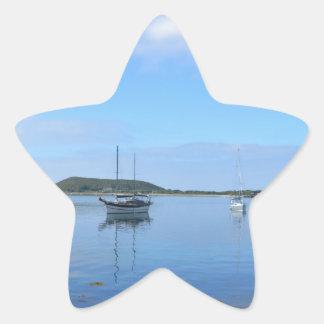 Anchorage In The Scillies Star Sticker