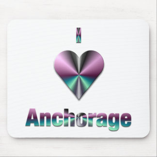 Anchorage -- Purple & Turquoise Mouse Pad