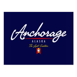 Anchorage Script Postcard