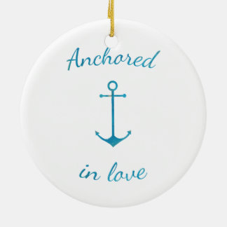 Anchored in love christmas ornament