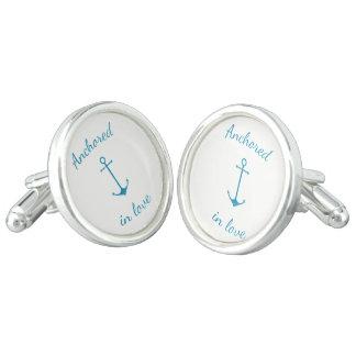 Anchored in love cufflinks