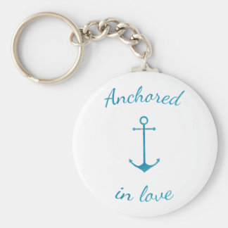 Anchored in love key ring