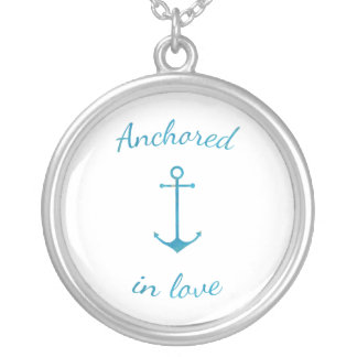 Anchored in love silver plated necklace