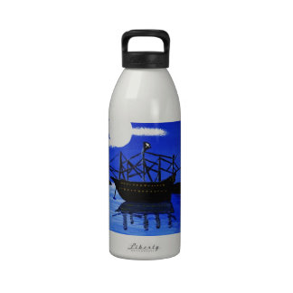 Anchored in the Lagoon Water Bottles