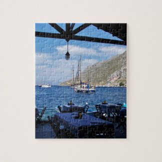 Anchored Outside The Taverna Jigsaw Puzzle
