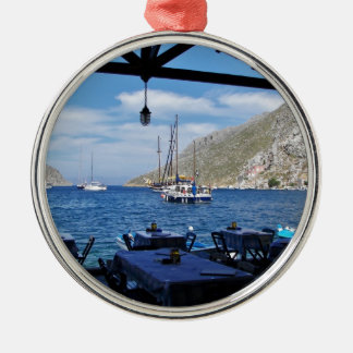 Anchored Outside The Taverna Silver-Colored Round Decoration