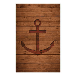 Anchored Rustic Customised Stationery