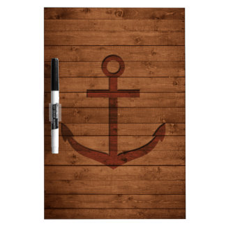 Anchored Rustic Dry Erase Board