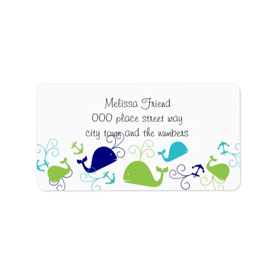 Anchors-a-Whale Address Label