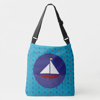 Anchors and Boat Beach Bag Tote