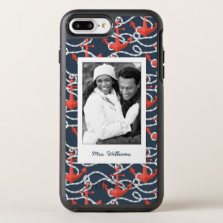 Anchors And Rope Pattern | Your Photo & Name OtterBox Symmetry iPhone 7 Plus Case