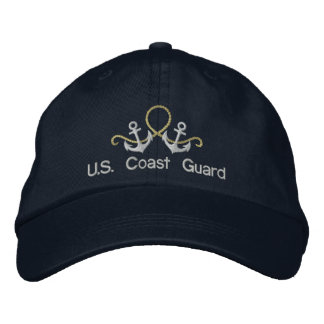 Anchors and Rope U S Coast Guard Hat Embroidered Baseball Cap