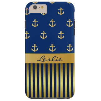 Anchors and Stripes iPhone 6 Plus Case