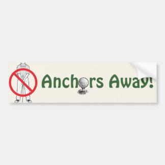 Anchors Away! - Golf Bumper Sticker