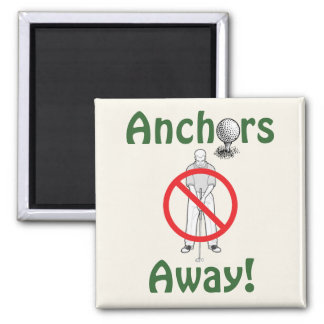 Anchors Away! - Golf Square Magnet