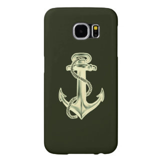 Anchors Away (Green) Samsung Galaxy S6 Cases