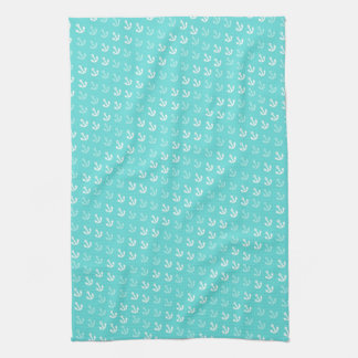 Anchors Away Kitchen Towel in Seafoam