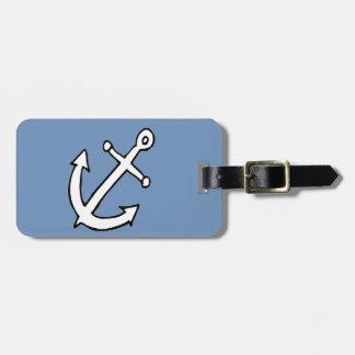 anchors away luggage tag
