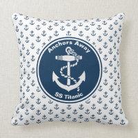 Anchors Away Nautical Cushion