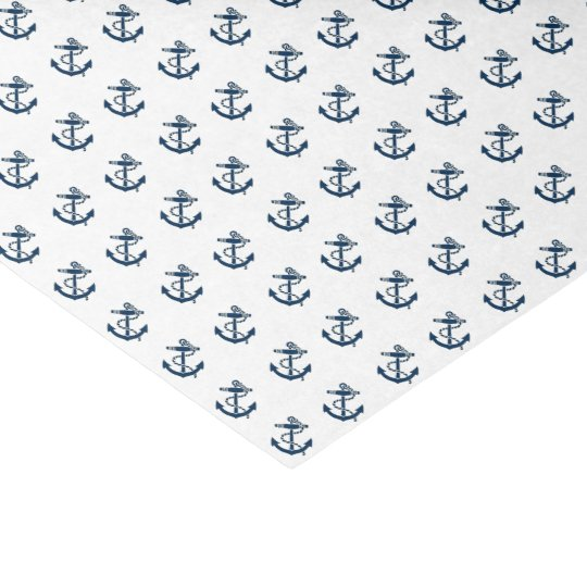 Anchors Away Nautical Personalise Tissue Paper